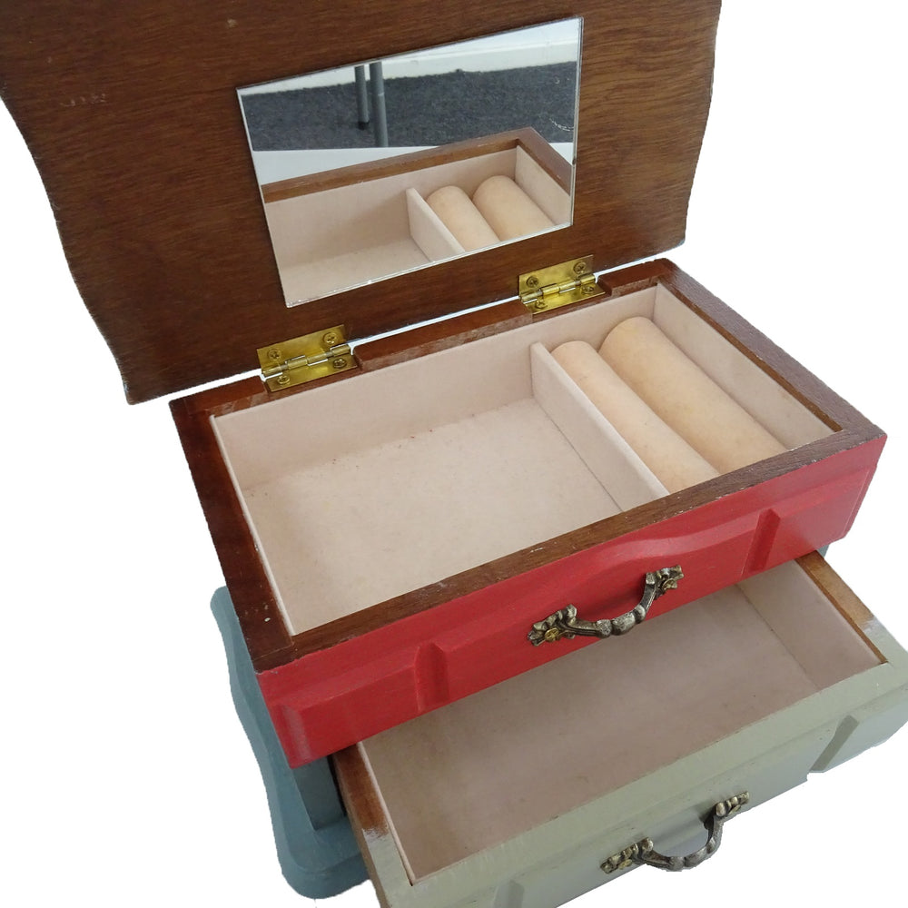 Inside Upcycled Jewellery Box