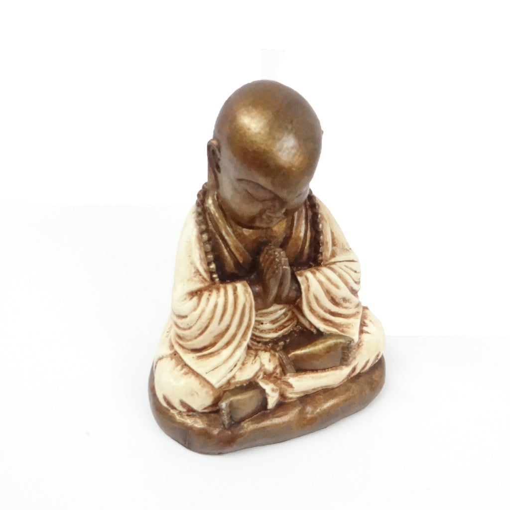 White Praying Buddha Model