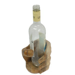 Wooden Hand Bottle Holder