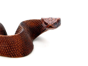 Wooden Snake Ornament