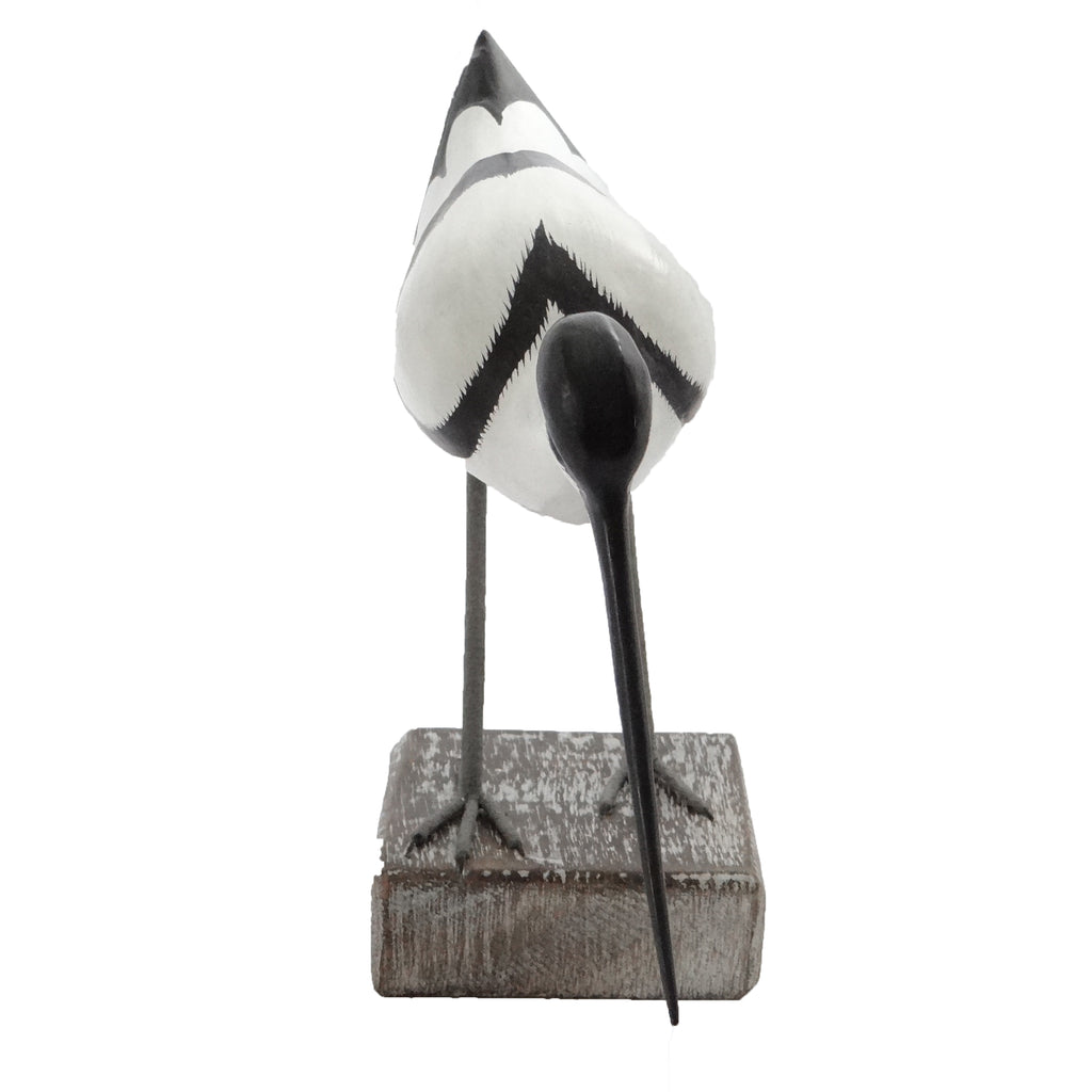 Avocet bird Wooden Ornament