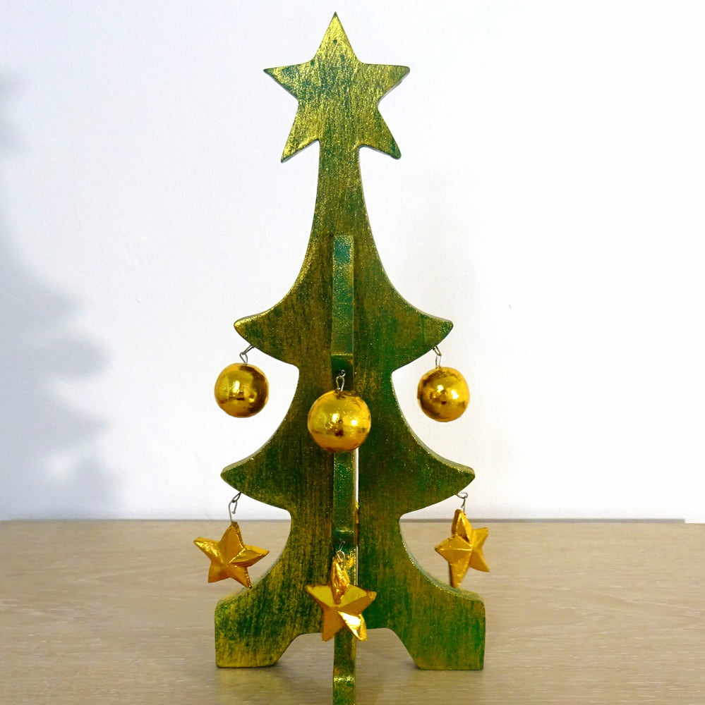 Green Christmas Tree Wooden