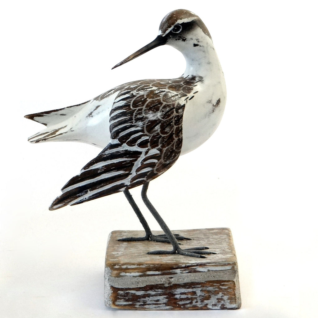 Wooden Godwit Bird Ornament