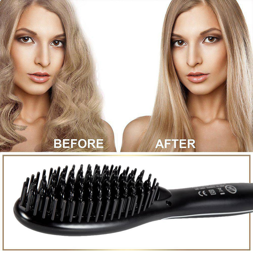 Ionic Hair Straightening Brush by ThickTails