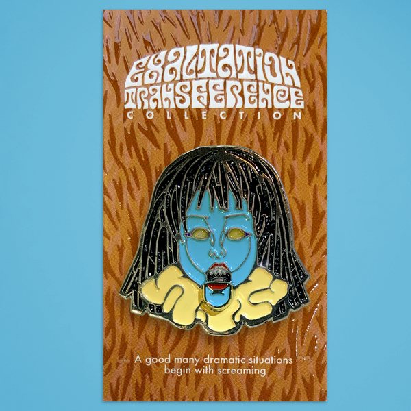 "Exaltation Transference - ""Biting Doll"" Enamel Pin"