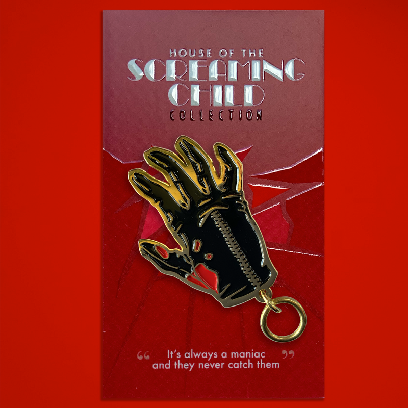 "House of the Screaming Child - ""Giallo Glove"" Enamel Pin"