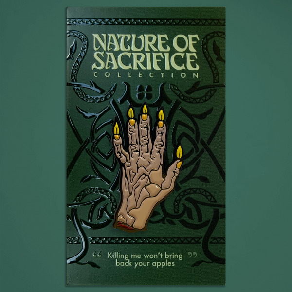 "Nature of Sacrifice - ""Hand Candle"" Enamel Pin"