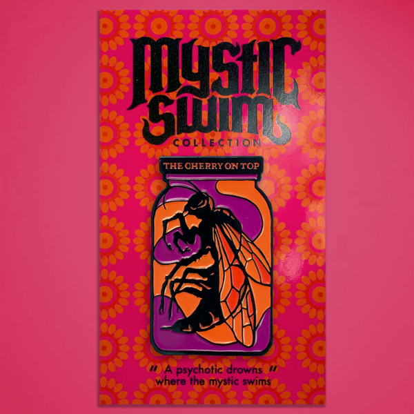 "Mystic Swim - ""The Cherry on Top"" Enamel Pin"