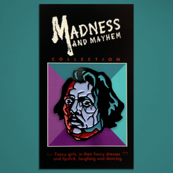 "Madness and Mayhem - ""Frank"" Enamel Pin"