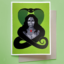 "Greeting Card—Inspired by ""Night of the Cobra Woman"""
