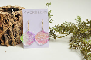 Peony Iridescent Earrings