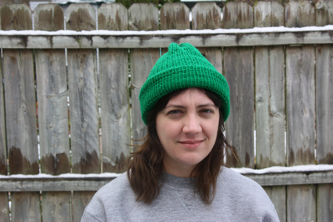 Double-knit Green Hat