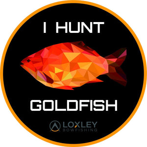 I HUNT GOLDFISH Sticker Accessories Loxley Bowfishing