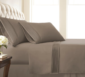 Stylish Extra-Deep Pocket Pleated Sheet Sets: Vilano Springs