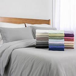 duvet cover set stack on bed set