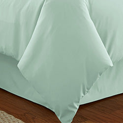 mint duvet cover set closeup