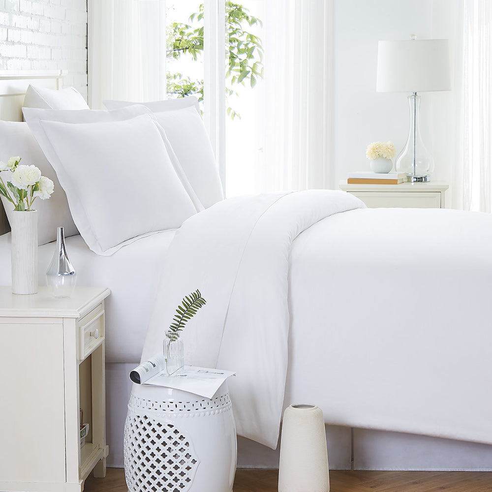 300 TC Duvet Cover Set in White