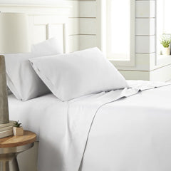 white ultra soft and modern bedroom sheet set