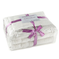 White cotton towels gift wrapped