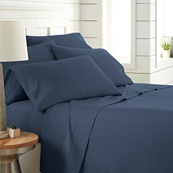 Dark blue 6 piece sheet bedroom set
