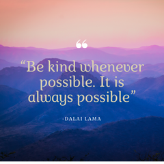 "Dalai Lama quote ""Be kind whenever possible.  It is always possible."""