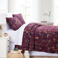 blooming blossoms floral print bedroom set
