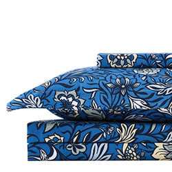 blooming blossom duvet cover stack in blue