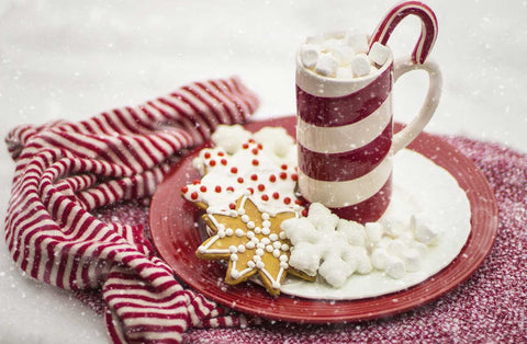 hot cocoa and christmas cookies