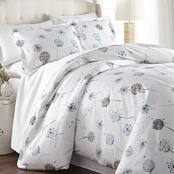White dandelion dreams duvet bedroom set