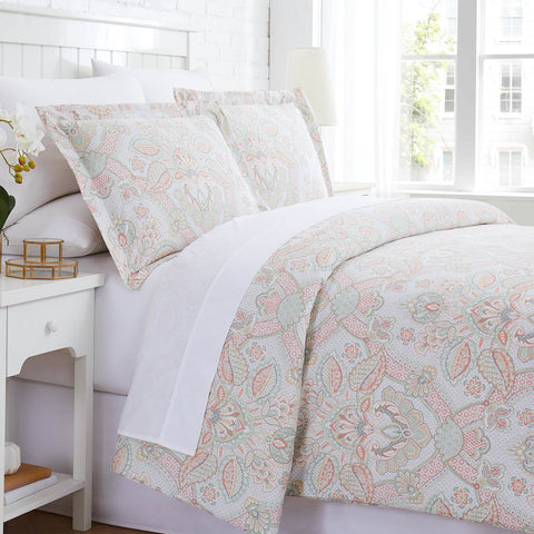 enchantment duvet in coral