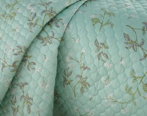 Myosotis Scorpioides Quilt Sets in Green