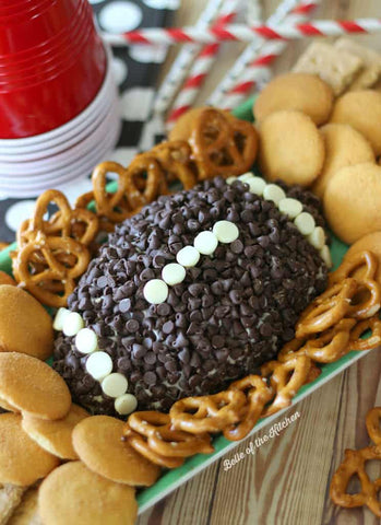Super Bowl party cheesecake ball