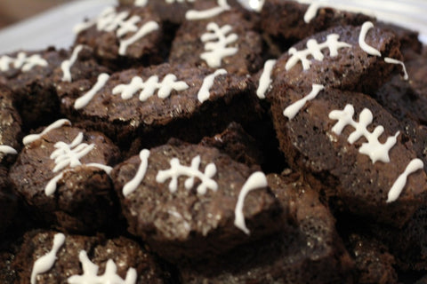 Football brownies for super bowl party