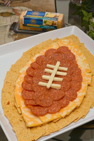 Super Bowl Party snacks meat and cheese plate