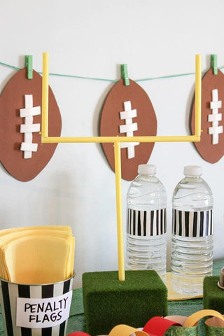 Homemade Football Party Decor