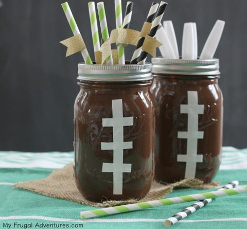 Mason jars that look like footballs