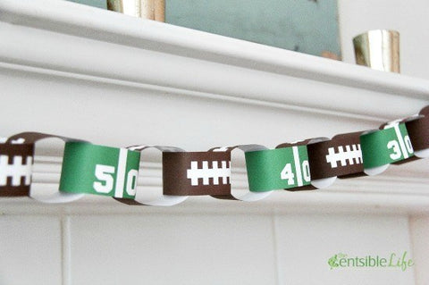 Football paper chain party decoration super bowl