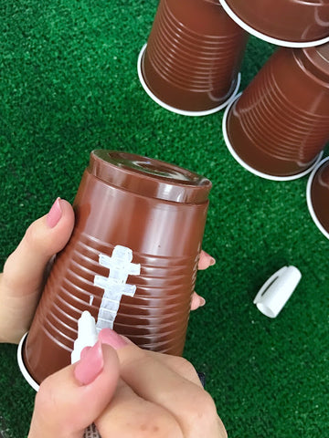 Football party decorations, football party cups