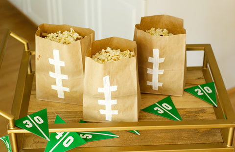Football party decorations super bowl snack bags