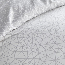 blue geometric maze duvet bedroom set