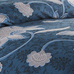 grand floral comforter pattern closeup