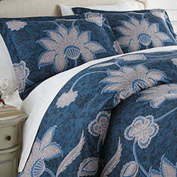 grand floral duvet sham closeup