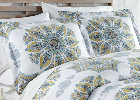 Infinity Duvet Cover Set in Aqua by Southshore Fine Linens