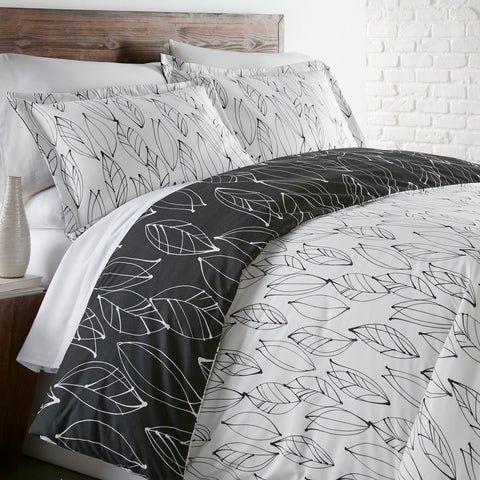 VILANO CHOICE MODERN FOLIAGE REVERSIBLE DUVET COVER SET