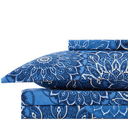 midnight floral duvet cover set stack