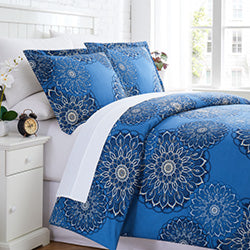 midnight floral duvet cover bedroom set