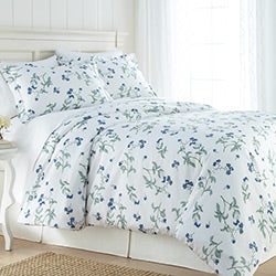 white floral print duvet cover bedroom set
