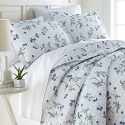 white floral print cotton duvet cover set