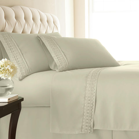 Vilano Springs Extra Deep Pocket Lace Hem Sheets