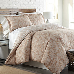 taupe and white paisley print comforter bedroom set